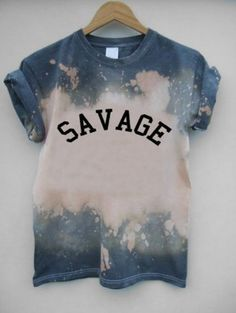 t-shirt tie dye savage shirt bleach dyed