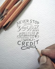 Measuring just a few inches in size, the hand drawn lettering project by Indonesian artist Dexa Muamar are carefully rendered. But the crisp text belies the meaning of the quotes that he chooses which don't hesitate to punch you in the gut. Hand Lettering Quotes, Hand Drawn Lettering, Typography Quotes, Brush Lettering, Calligraphy Quotes Motivation, Drawn Quotes, Fonts Quotes, Lettering Styles, Script Lettering