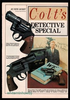 1984 COLT Detective Special Revolver 4-pg Article : Other Collectibles at GunBroker.com