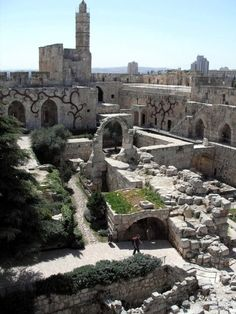 Tower of David, located just next to Jaffa Gate - one of the entrances into the Old City of Jerusalem.