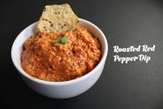 The Hungry Girlfriend | Roasted Red Pepper Dip