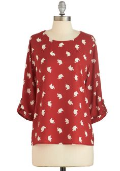 Zoom Bisou Top in Red Elephants, @ModCloth @kariebrown they have it in blue too!