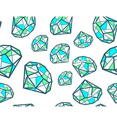 Pattern of green emeralds of different diamonds vector - by wowomnom on VectorStock®