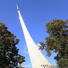 Per Ardua ad Astra - there is no easy way to the stars!  The beautiful #titanium monument to #Soviet #space exploration at #вднх #москва #россия #космос #traveling #travel #travelblog
