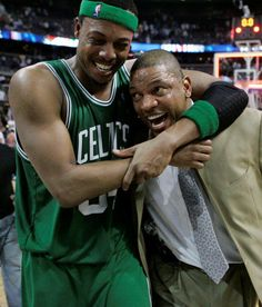 Pierce & Doc....Celtics won't be the same after these two retire :(