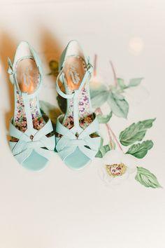 #mint bridal shoes / Apryl Ann Photography