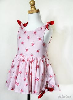 Forget Me Knot Dress ePattern Sizes 2  6 years by mesewcrazy1,