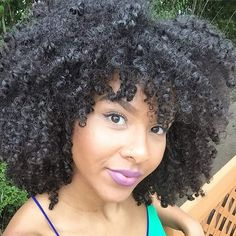 Pretty girl in #coily #naturalhair Loved By NenoNatural! #naturalhairstyles #curlyhair #kinkyhair #nenonatural #vlogger #blogger #hairblogger