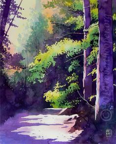 watercolor trees on Pinterest | Watercolors, Watercolor Trees and ...
