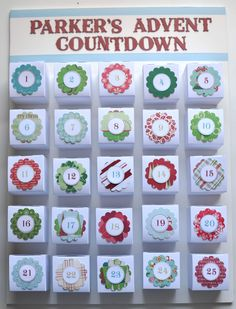Create your own Lego Advent Calendar! By Monica at Scrap Inspired  Such a smart idea!