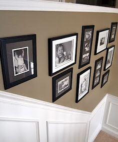 9 Superb Tips: Square Wainscoting Ceilings wainscoting staircase woods.Wainscoting How To Diy Network wood wainscoting the wall.Wainscoting How To Diy Network. Picture Frame Wainscoting, Wainscoting Height, Wainscoting Kitchen, Painted Wainscoting, Dining Room Wainscoting, Black Wainscoting, Wainscoting Panels, Wainscoting Ideas, Stairwell Wall