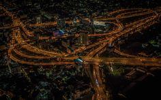 Download wallpapers Bangkok, nightscapes, panorama, Thailand, Asia