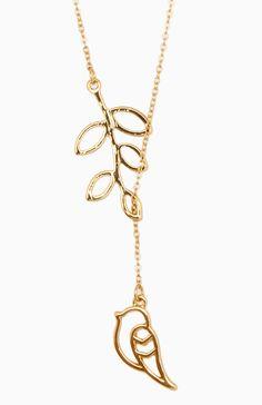 Bird on a Branch Necklace @ DailyLook.com
