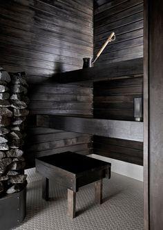 kuva Spa Rooms, House Rooms, Sauna Design, Finnish Sauna, Outdoor Sauna, Sauna Room, Beach Cottage Style, Saunas, Home Spa