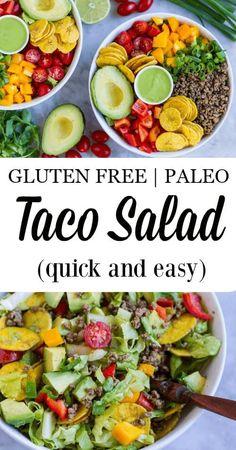 Quick and Easy Taco Salad (paleo and Gluten Free) --- www.savorylotus.com