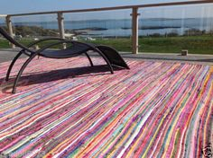 MASSIVE-EXTRA-LARGE-MULTI-COLOURED-INDIAN-RECYCLED-CHINDI-RAG-RUG-200cm-x-400cm