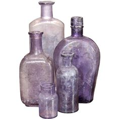 Group Of Purple Bottles ❤ liked on Polyvore featuring fillers, bottles, decor, home and purple