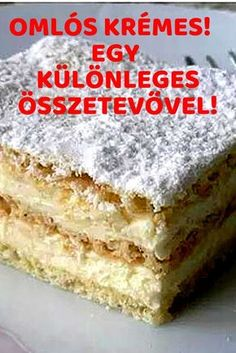 Hungarian Desserts, Hungarian Recipes, Cake Recipes, Dessert Recipes, Something Sweet, Cupcake Cookies, Food Cakes, No Bake Cake, Vanilla Cake
