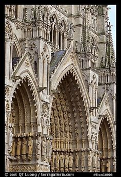 Gothic Cathedral facade, Amiens. France