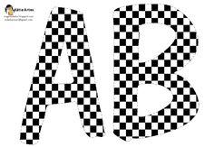 Alfabeto tablero de ajedrez. Checkered letters- includes all letters