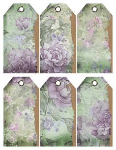 Vintage Purple Flowers Torn Tags – Free Printable Vintage Flower Tags Set of 6 gorgeous vintage flower tags are ideal for Easter Baskets, Birthday Gifts, Scrapbooking, and Gift Tags. The soft hues of green and purple create a cottage chic look. Vintage Tags, Vintage Labels, Vintage Floral, Free Printable Tags, Free Printables, Printable Vintage, Birthday Tags, Birthday Gifts, Printable Scrapbook Paper