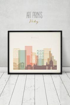 Oslo print, Poster, Wall art, Norway cityscape, Oslo skyline, City poster, Typography art, Gift, Home Decor, Fine art prints, ArtPrintsVicky by ArtPrintsVicky on Etsy