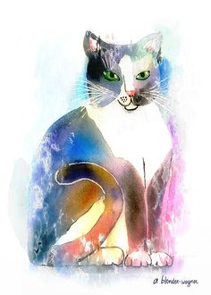 89 Mejores Imágenes De Gatos Pintados En 2019 Cat Art Cat Outline