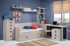 30 bedrooms juveniles that you'll love - Only Bedrooms Bedroom Styles, Bunk Beds, Kids Bedroom, Modern Design, Sweet Home, House Styles, Furniture, Home Decor, Rooms