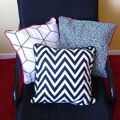 Nouvelle collection de coussins une embellie noir et blanc à motifs graphiques