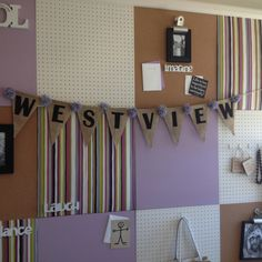 Cork board and peg board....love this for craft room