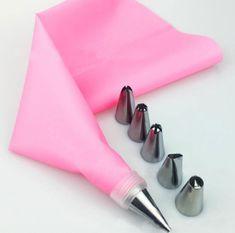 8 Stks/set Siliconen Keuken Accessoires Icing Piping Cream Spuitzak + 6 Rvs Nozzle Set DIY Cake Decorating Tips Set