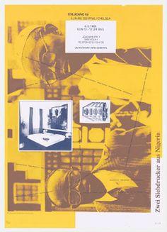 Zwei Siebdrucker aus Nigeria from Courage to Print (Mut zum Druck), 1990 Martin Kippenberger | MoMA, The Museum of Modern Art