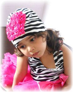 Valentine baby girl zebra  hat, cotton beanie.Ready to ship. $16.00, via Etsy.