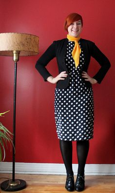 Dotty dress.
