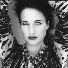 "Rosalie Anderson ""Andie"" MacDowell (1958) - American actress. Photo by Nigel Parry"