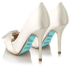 Cute wedding idea - Custom hand painted And They Lived Happily Ever After heels