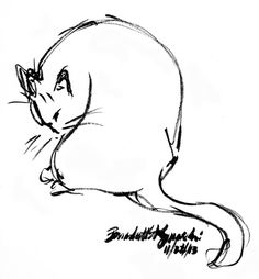 The Creative Cat - Daily Sketch: Quick Sketch of a Quick Bath