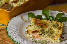 Lasagnes aux courgettes et saumon fumé Cata, Eggs, Chicken, Breakfast, Food, Gnocchi, Comme, Albanian Cuisine, Hispanic Kitchen