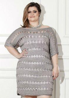 Crochet Skirt Plus Size Clothing Ideas Vestidos Plus Size, Plus Size Dresses, Plus Size Outfits, Crochet Hat For Women, Crochet Woman, Crochet Blouse, Knit Dress, Curvy Fashion, Plus Size Fashion