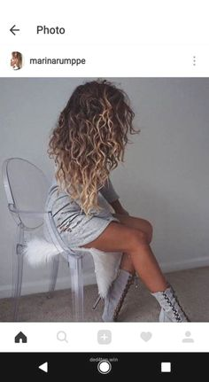 Trendy hair highlights : curly balayage brown blonde hair www Curly Balayage Hair, Dyed Curly Hair, Brown To Blonde Balayage, Brown Curly Hair, Colored Curly Hair, Brown Blonde Hair, Curly Blonde, Curly Hair Styles, Short Blonde
