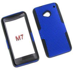 HTC One/ M7 Hybrid Case Black TPU + Blue Net