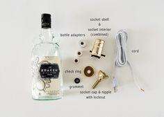 How to make a bottle lamp. Diy Liquor Bottle Lamp - Step 1