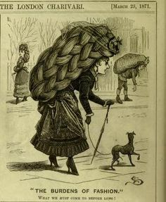 'The Burdens of Fashion' by Linley Sambourne published in Punch, 1871