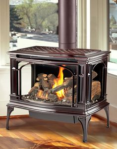 Greenfield Gas Stove by Lopi – Freestanding fireplace wood burning Gas Stove Fireplace, Corner Gas Fireplace, Home Fireplace, Fireplace Inserts, Fireplace Ideas, Gas Fireplaces, Cabana, Free Standing Gas Stoves, Chimenea Simple