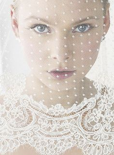 Lace dottie veil. Love.