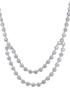 CZ by Kenneth Jay Lane Plated Halo Bib Necklace is on Rue. Shop it now.