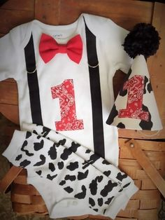 12 Months Ready to Ship Farm Cow Cake Smash Outfit!! by SewAdorbs on Etsy