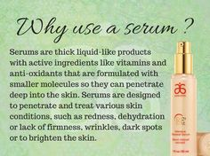 Why use serum? Here is why! Arbonne has some amazing serums to chose from :) www.rosescanlan.arbonne.com