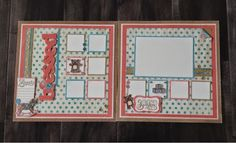 """Create with Liz: Baby Charms """"Blessed"""" layout"""