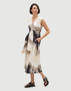 Sandstone Ombré Orielle Dress | Lafayette 148 New York